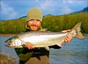 Dr. Seitz fishing for steelhead
